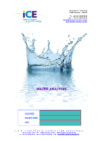 Form: water analysis