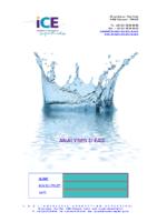 Formulaire: analyse d'eau