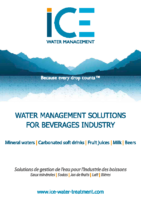 Water management solutions for beverages industry