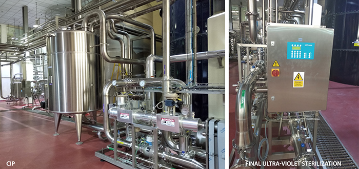 extension of a water treatment plant - pretreatment of the RO - hot cleanable RO